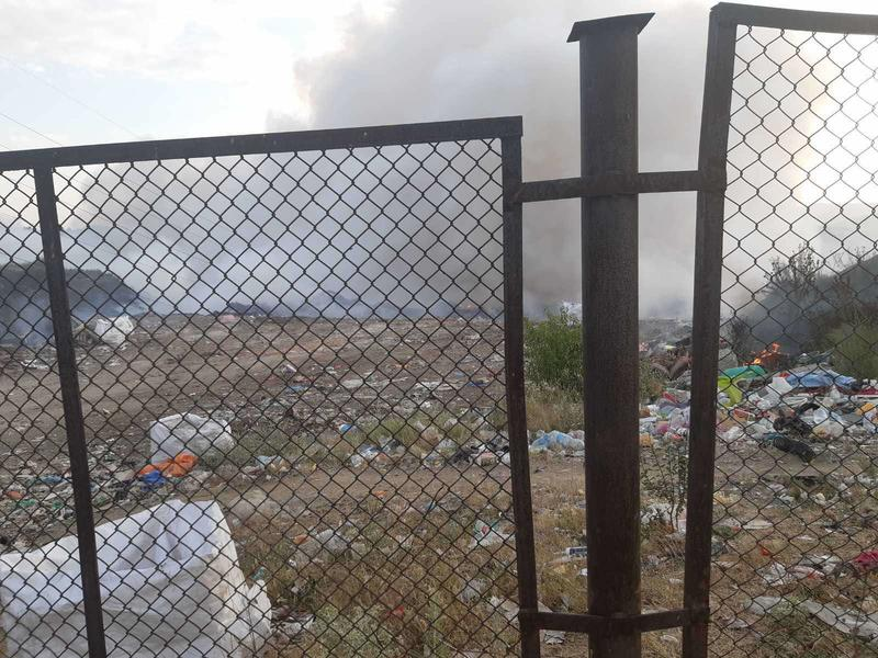 The landfill in the Zlevo area near Dupnitsa auto-ignited - 01