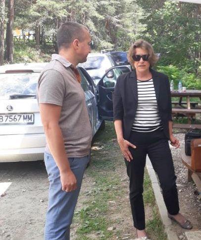 Зам.-министър Емилия Тончева и експерти извършиха проверка на мястото на инцидента край Белица - 01