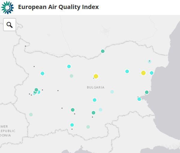 Европейският индекс визуализира данните за качеството на атмосферния въздух в България - 01