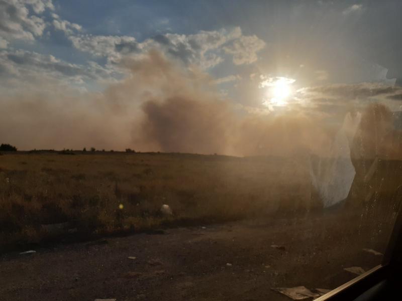 Самозапали се сметището в местността Злево край Дупница - 01